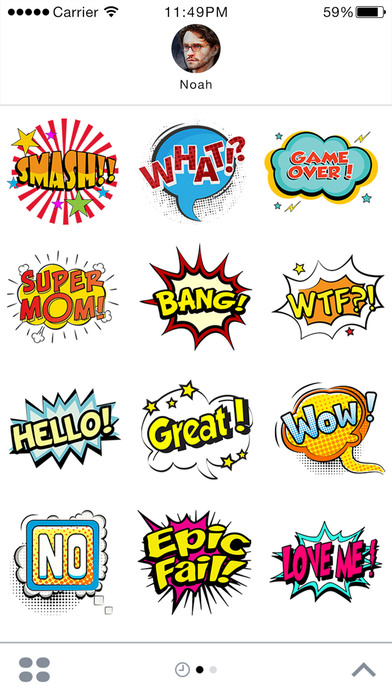 Comic Stickers For iMessage screenshot 1