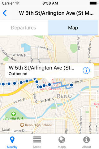 Reno RTC Ride Now - Real-time Transit Arrivals - náhled