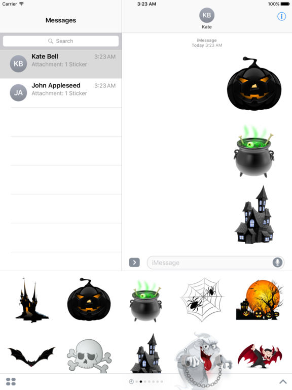 Halloween Creepy Stickers for iMessage screenshot 7