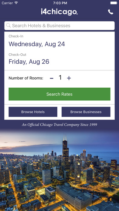 i4chicago - Chicago Hotels, Yellow Pages Directory screenshot 2