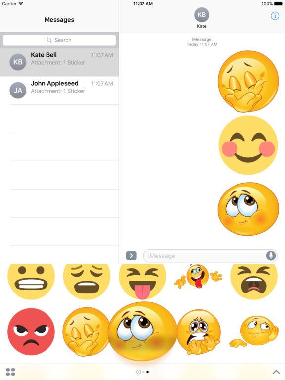 Emoticons Bundle Stickers iMessage Edition screenshot 6