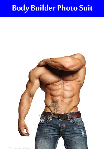 Body Builder Photo Suit - náhled