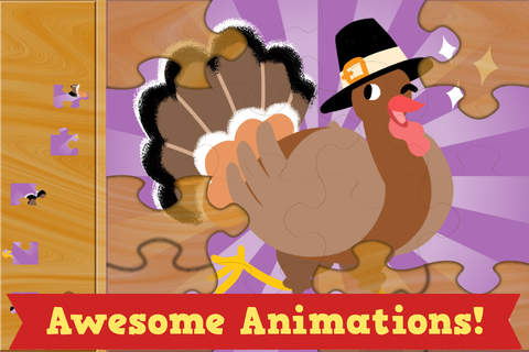 Thanksgiving Puzzles - Fall Holiday Games for Kids - náhled