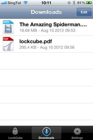 LockCube - náhled