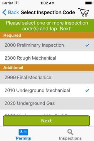 Oregon ePermitting Inspections - náhled