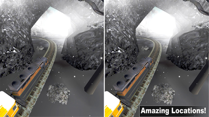 Vr Snow Train Simulator : New Virtual Reality Game screenshot 3