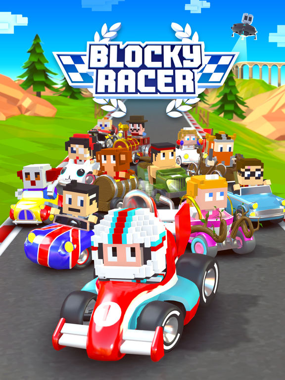 Blocky Racer - Endless Arcade Racing screenshot 10