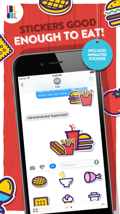 Ibbleobble Food Stickers for iMessage screenshot 2
