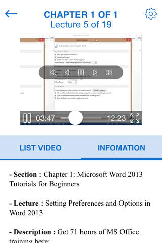 Video Training for Mirosoft Word 2013 - náhled