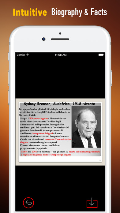 Biography and Quotes for Sydney Brenner-Life screenshot 1