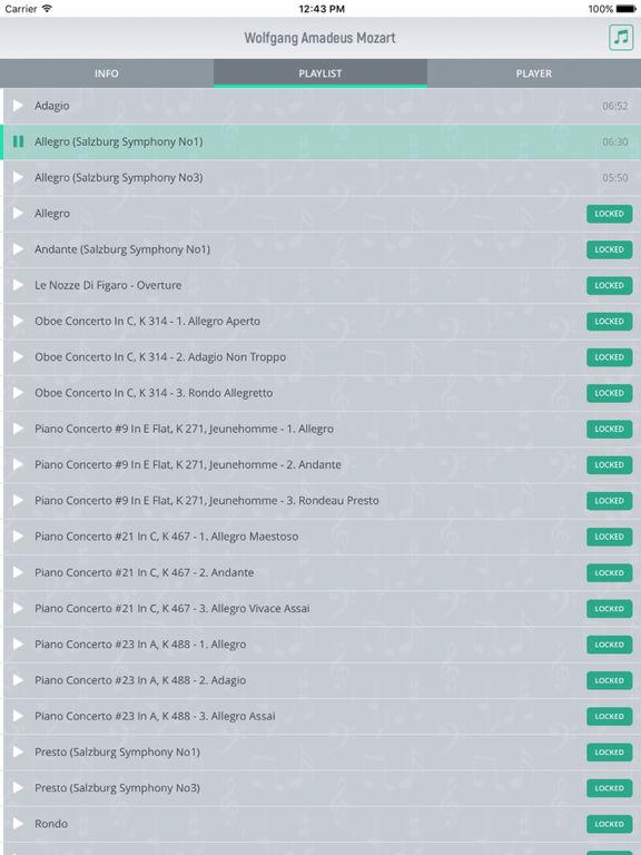 Wolfgang Mozart - Classical Music Full screenshot 7