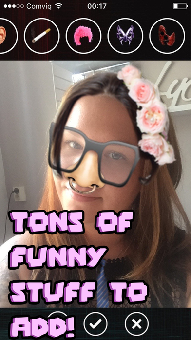 Funny faces - add stuff to photos! screenshot 2