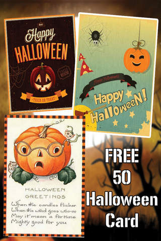 Free Halloween Greeting Cards - náhled