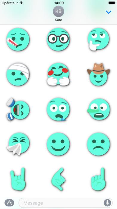 TURQUOISE Emoji • Stickers screenshot 5