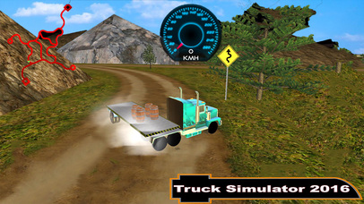Offroad Truck Simulator : 3D Hill Climbing screenshot 1