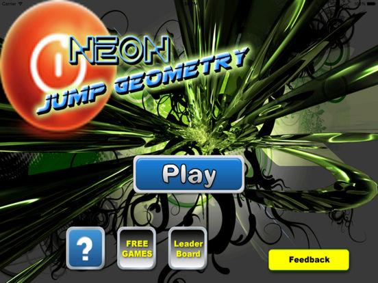 Neon Jump Geometry - Temple Of Ball And Block screenshot 6