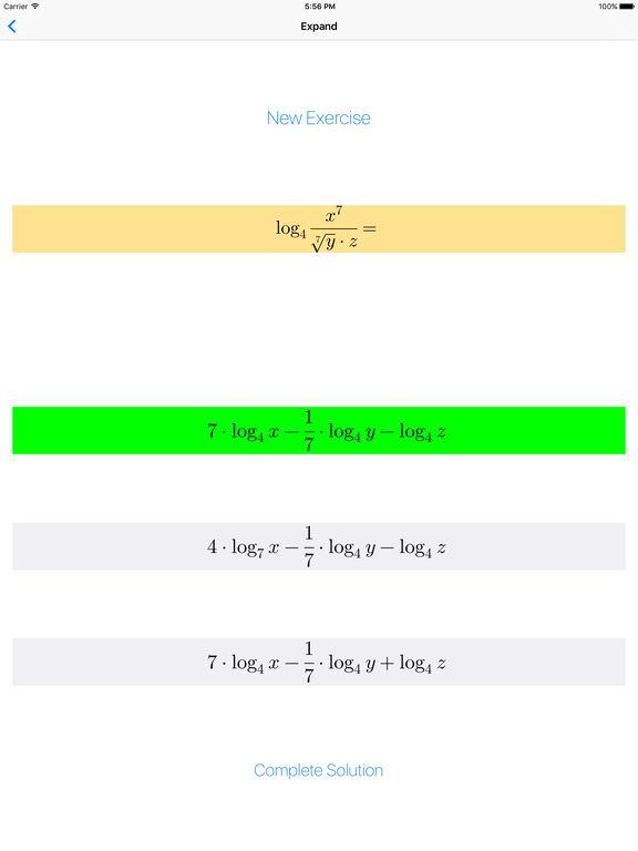 Logarithms | Apps | 148Apps on