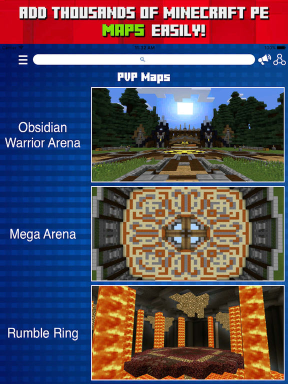 MAPS for MINECRAFT PE ( Pocket Edition ) - Download PVP Map Now