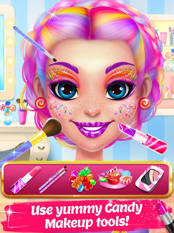 Candy Makeup Beauty Game screenshot 7