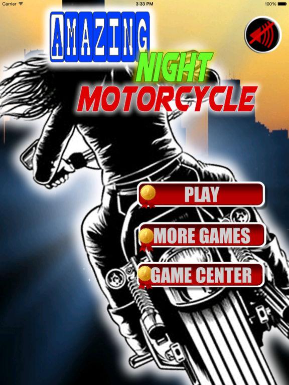 Amazing Night Motorcycle PRO - Bike Game screenshot 6