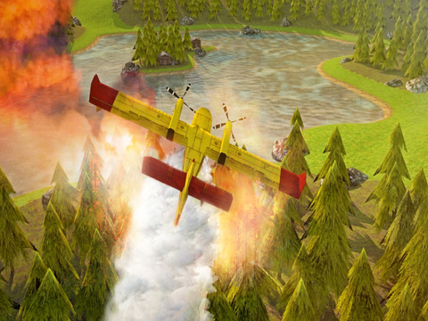 Airplane Firefighter Simulator - eXtreme 3D Landing Firefighting Emergency Rescue Flying Games screenshot 8