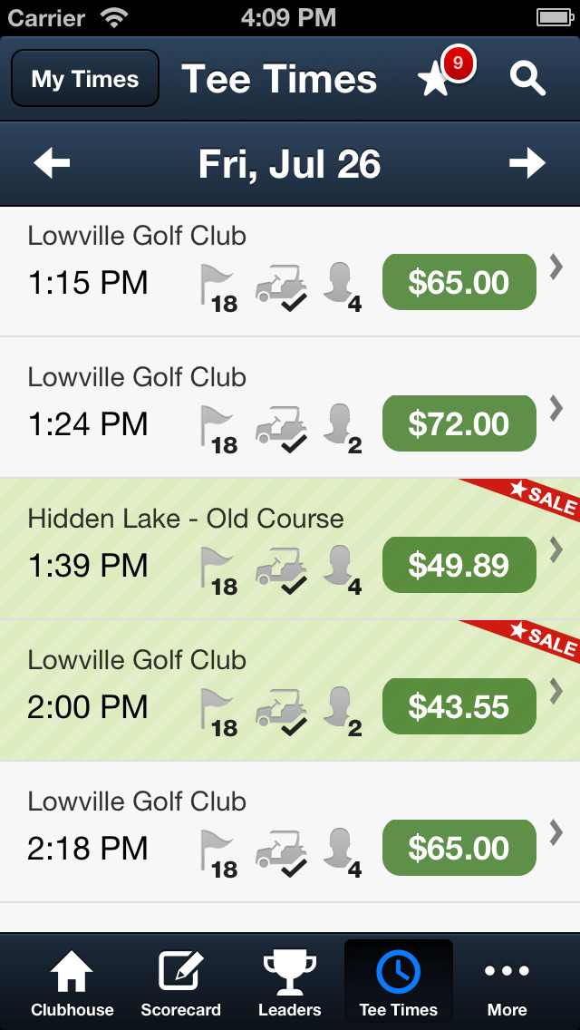 Lowville Golf Club screenshot 5