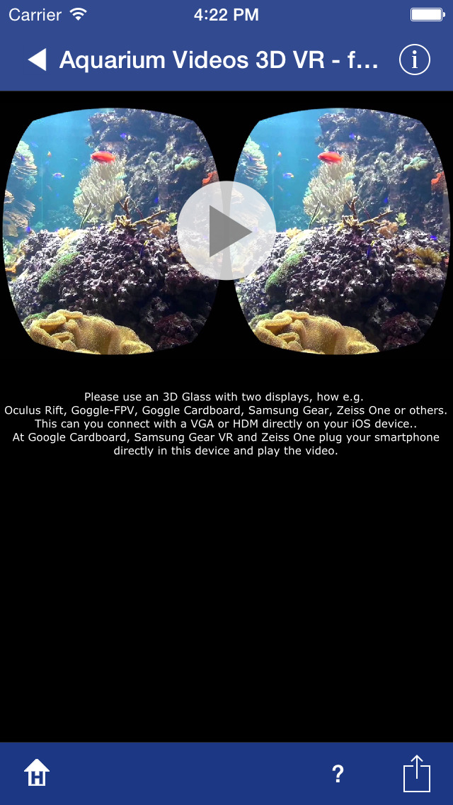 Aquarium Videos for Cardboard screenshot 2