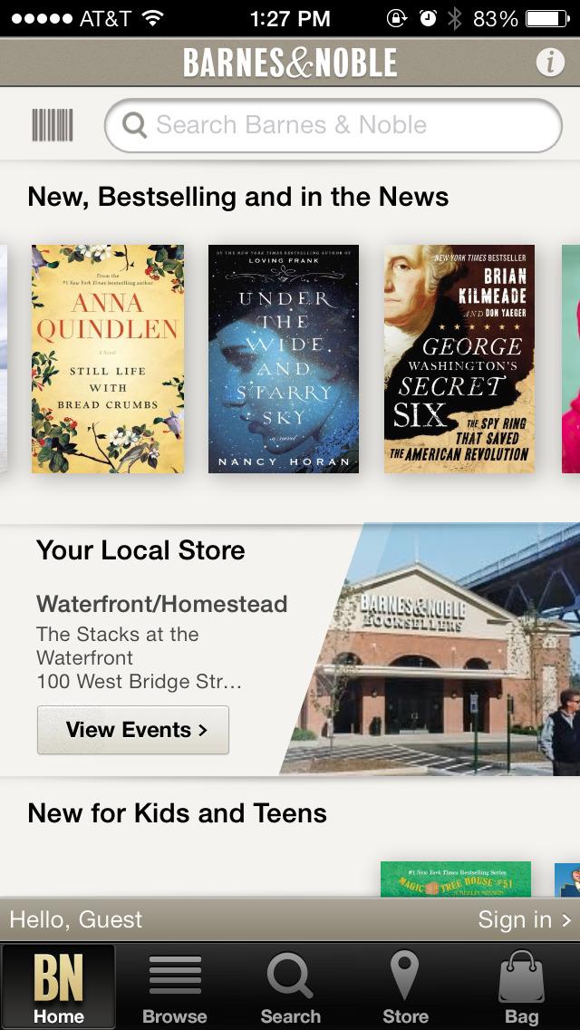 Barnes & Noble – shop books screenshot 1