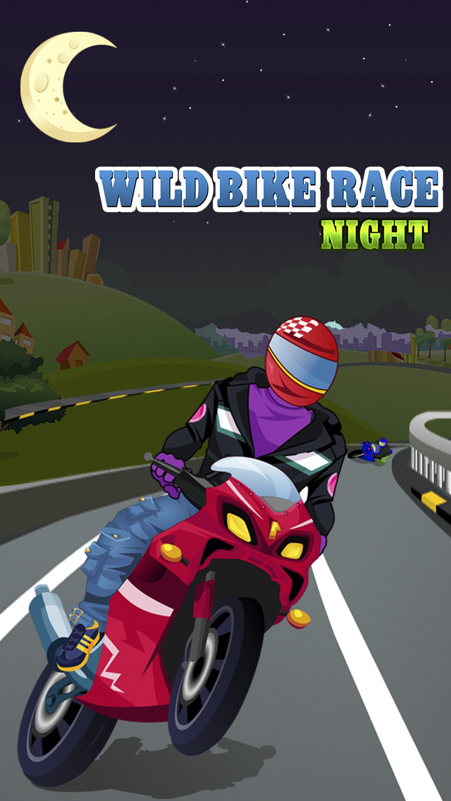 Wild Bike Race Night Pro screenshot 1