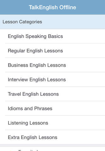TalkEnglish Offline Version for iPad/iPhone/iPod - náhled
