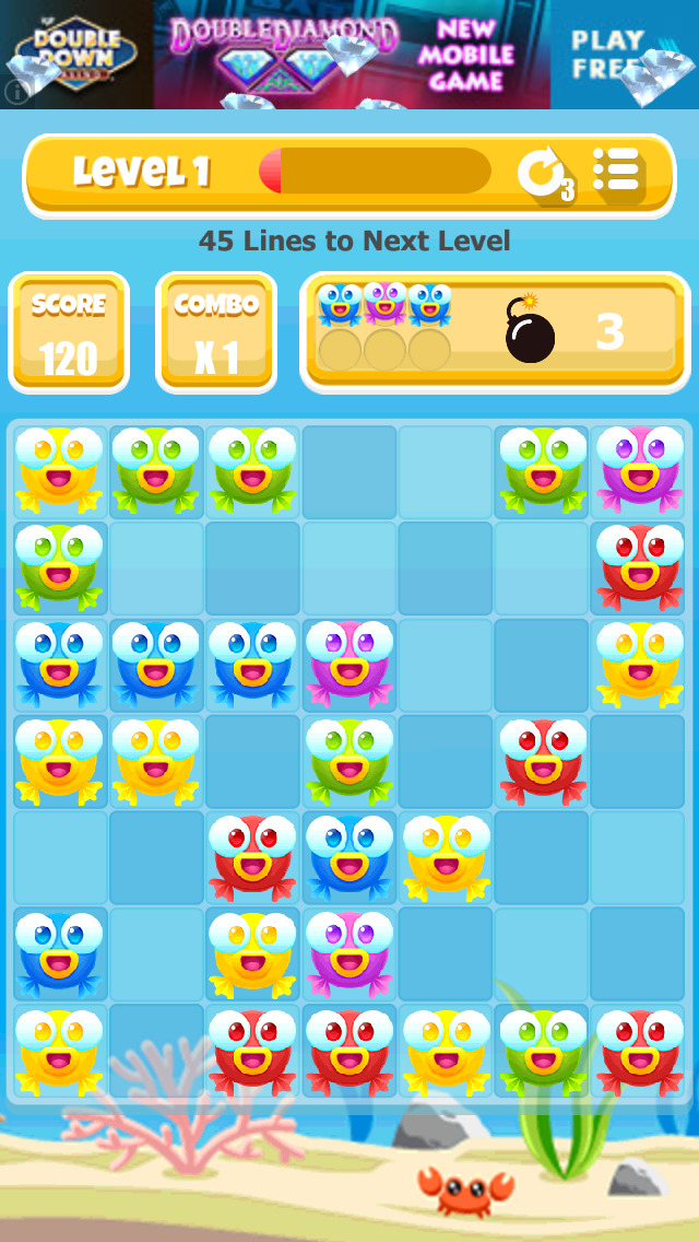 A Fish Rescue Game: Match 3 or More Puzzle - FREE Edition screenshot 1