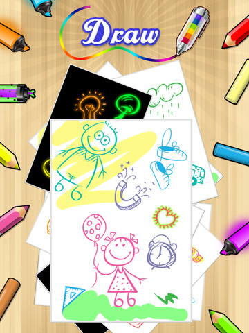 Kids Doodle Coloring Book HD - Color & Draw Kids games screenshot 5