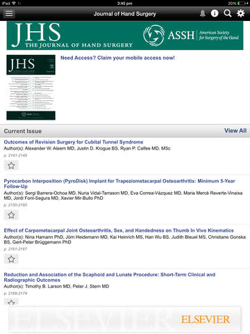 Journal of Hand Surgery screenshot 7