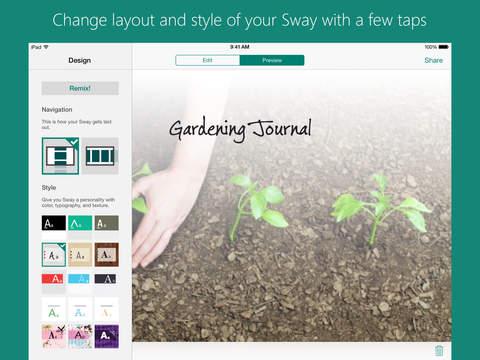 Microsoft Sway screenshot 9