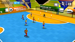 Indoor Soccer 2015: Ultimate futsal football game in beautiful arena by BULKY SPORTS [Premium] screenshot 1