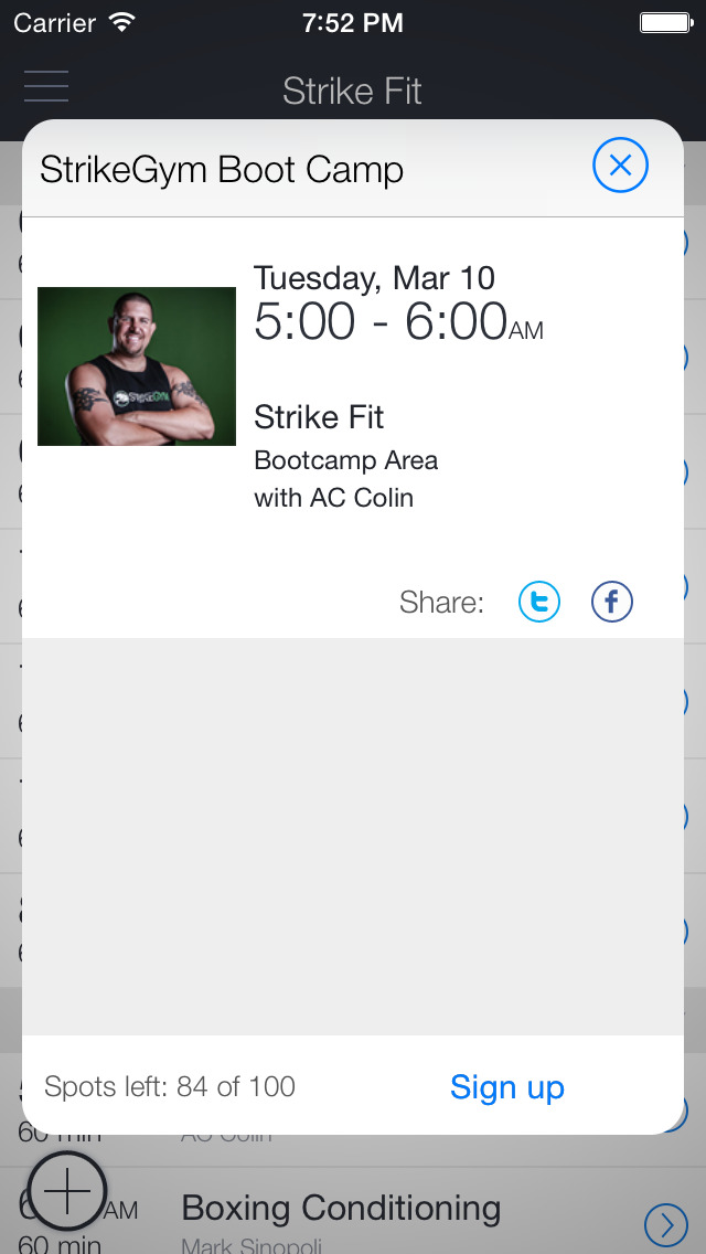 StrikeGym Fitness screenshot 2