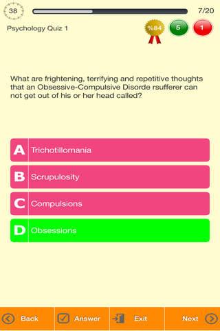 Psychology Quizzes - náhled