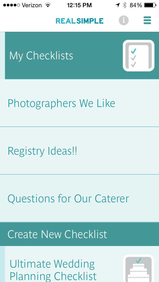 Real Simple Wedding Checklists screenshot 4