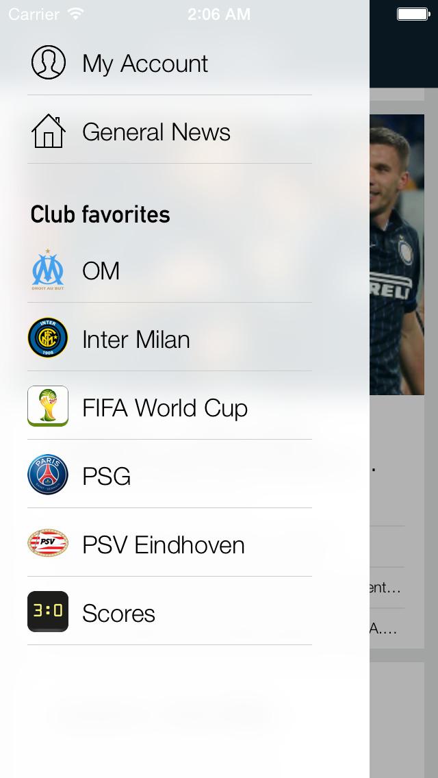 Foot Reader : mercato Football screenshot 1