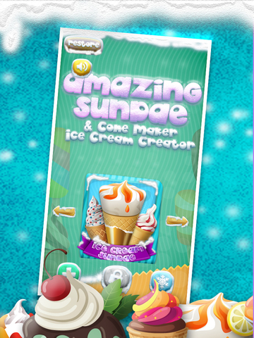 A+ Cone & Sundae Creator Ice-Cream Sandwich Maker Game screenshot 7