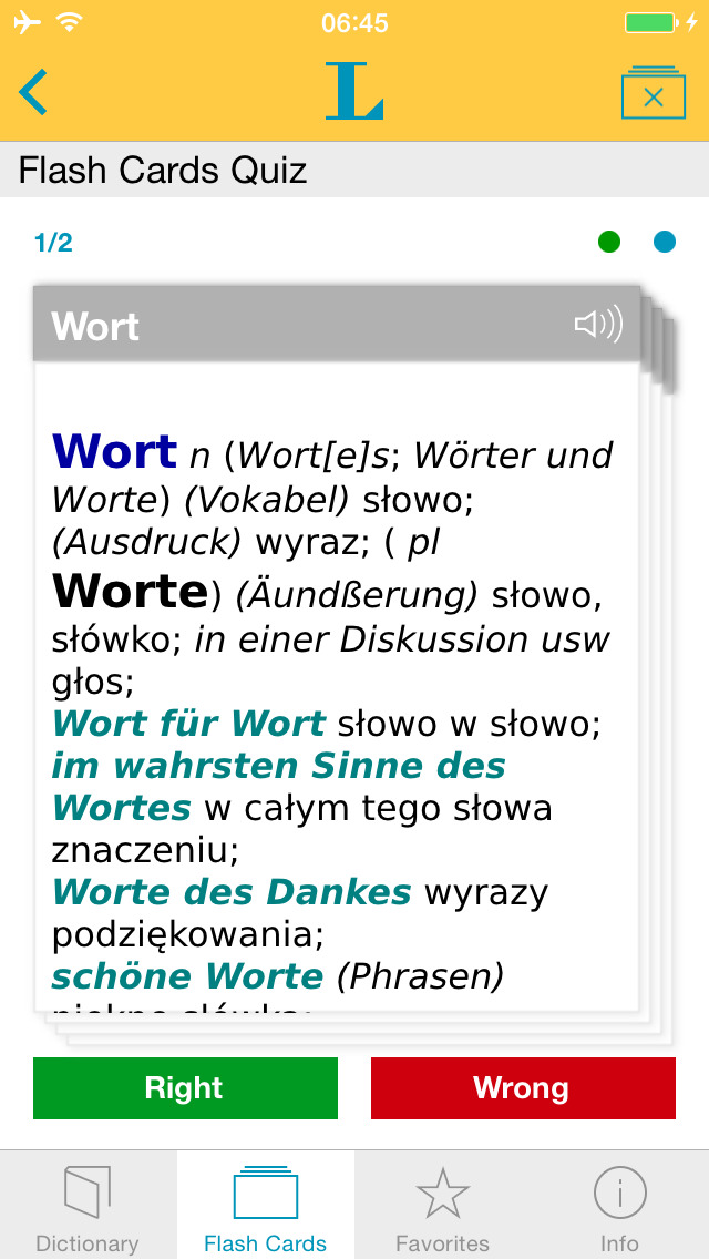 German Polish Dictionary screenshot 3