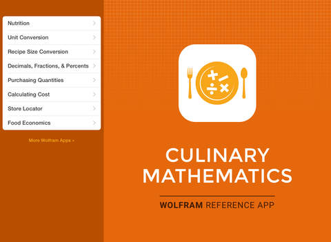 Wolfram Culinary Mathematics Reference App screenshot 6