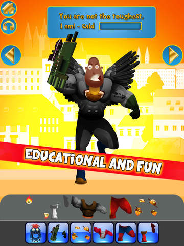 Create My Own Interactive Action Superheroes And Super Villains Story Books Advert Free Game screenshot 7