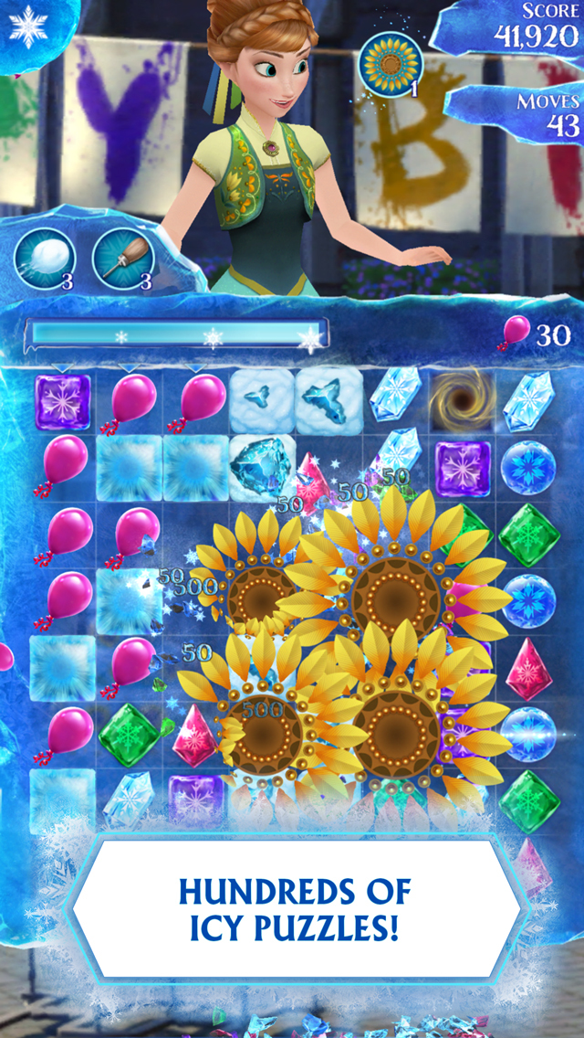 Disney Frozen Free Fall screenshot 1