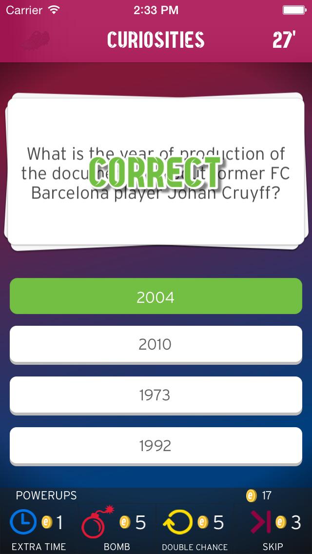 FC Barcelona Trivia Fans screenshot 5