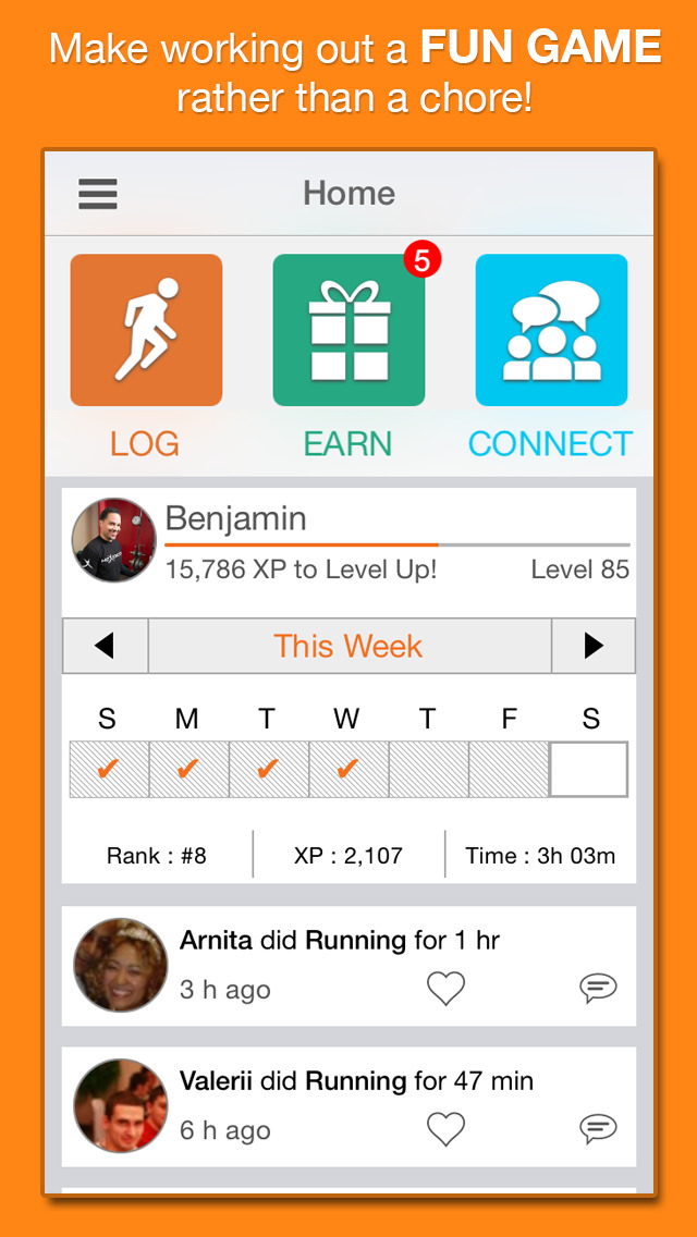 NexTrack – The mPoints exercise and weight loss tracker for motivation improve your health & fitness and lose body fat screenshot 1