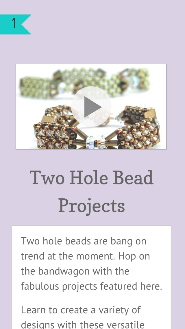 Two Hole Beading Projects screenshot 2