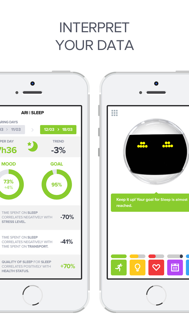 Optimized - Lifelogging and Quantified Self Improvement App screenshot 4
