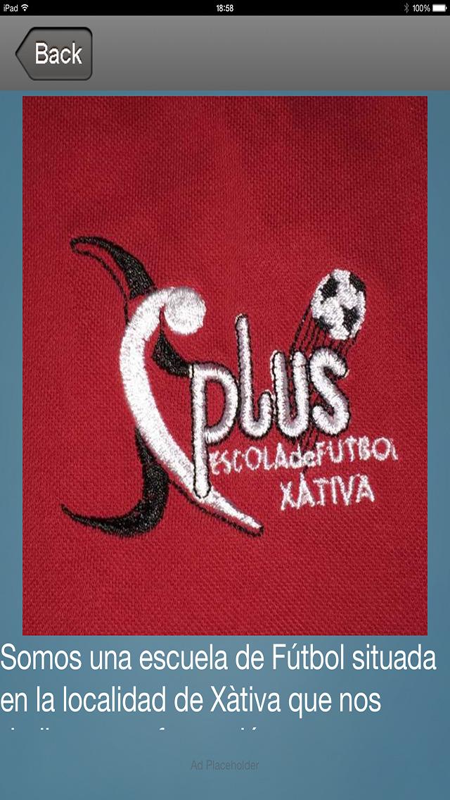 PLUSXATIVAIOS - Escuela Futbol Plus Xativa screenshot 1