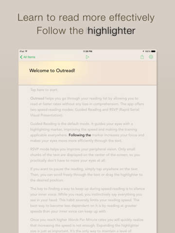 Outread: Speed Reading Trainer screenshot 6